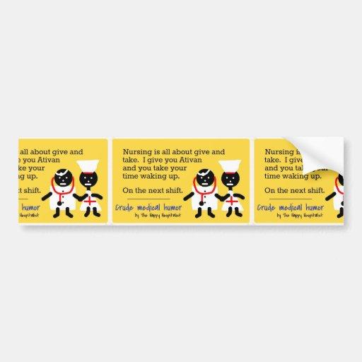 Medical Humor Car Bumper Sticker