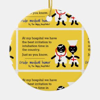 Medical Humor Ceramic Ornament