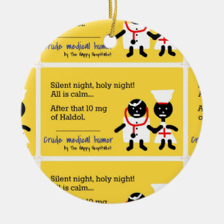 Medical Humor Double-Sided Ceramic Round Christmas Ornament