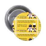 Medical Humor Pinback Buttons