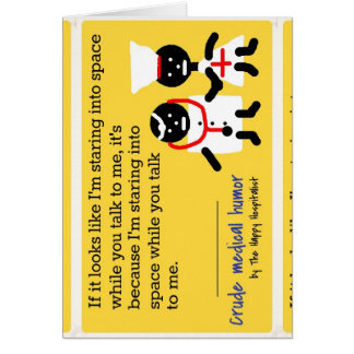 Medical Humor Stationery Note Card