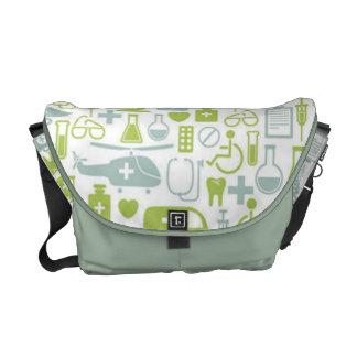 Medical Icon Pattern Messenger Bag