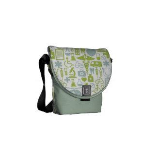 Medical Icon Pattern Mini Messenger Bag