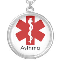 Medical ID Alert Necklace - Asthma