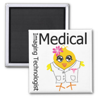 Medical Imaging Technologist Chick 2 Inch Square Magnet