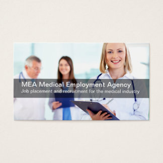 Medical Industry Employment Agency Business Card