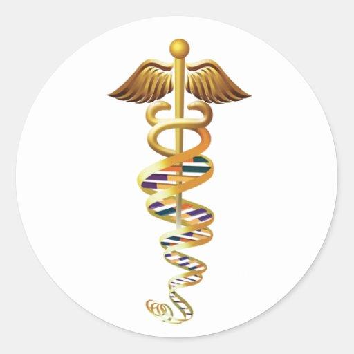 Medical Insignia Classic Round Sticker