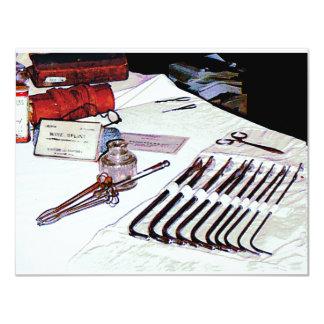Medical Instruments 4.25x5.5 Paper Invitation Card