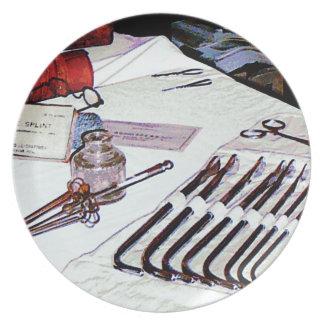 Medical Instruments Dinner Plate