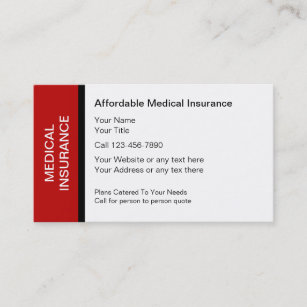 medical insurance business cards - Medical Business Cards