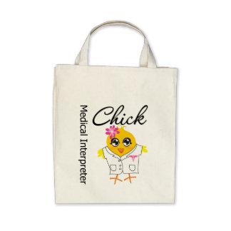 Medical Interpreter Chick Tote Bags