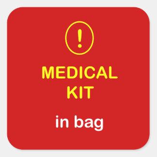 Medical Kit In Bag. Square Sticker