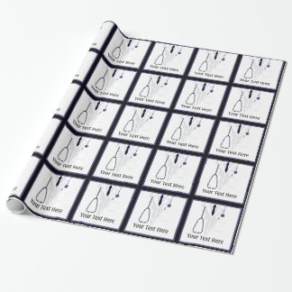 Medical Lab Coat Doctor Custom Wrapping Paper