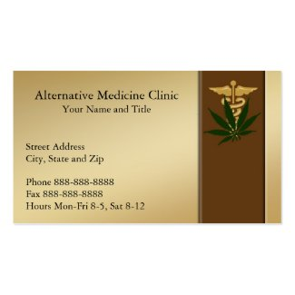 Medical Marijuana Alternative Medicine Business Cards