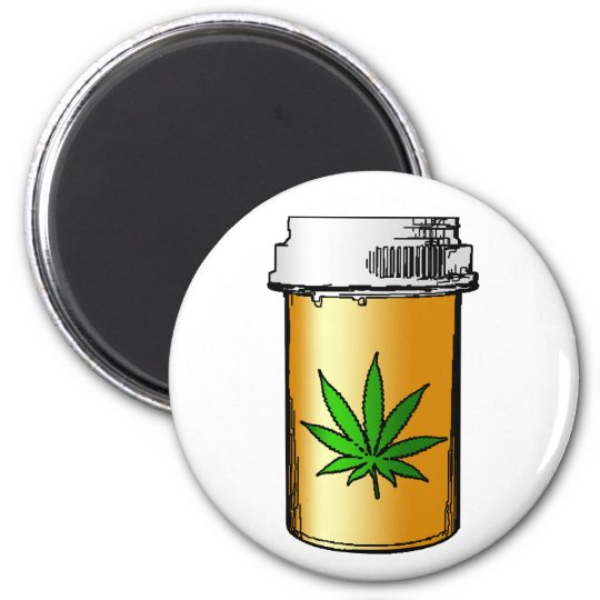 medical marijuana pill bottle magnet