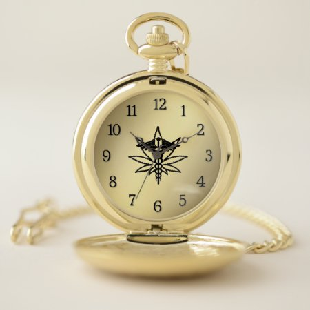 Medical Marijuana Pocket Watch