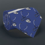 "Medical, Nurse, Doctor themed stethoscopes, Name Neck Tie<br><div class=""desc"">Medical, Nurse, Doctor themed stethoscopes, Name design. The pattern including silver gray & black color stethoscopes on navy blue background, a doctor or nurse typically use in their field of medical professional practice on the job. This stethoscopes medical supply pattern designed for doctors, nurses, graduate, graduating nursing student or other...</div>"