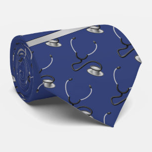 Medical, Nurse, Doctor themed stethoscopes, Name Neck Tie