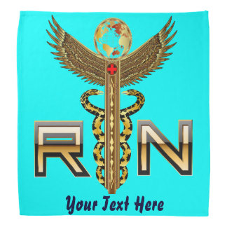 Medical Nurse RN Logo VIEW ABOUT Design Bandana