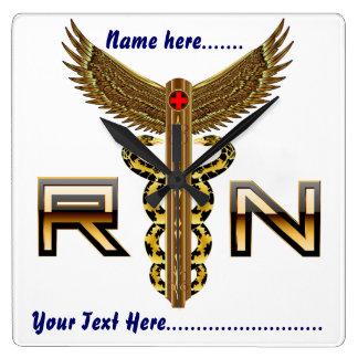 Medical Nurse RN Square Wall Clock