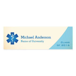 Medical Nurse Student Graduation Name Insert Card Double-Sided Mini Business Cards (Pack Of 20)