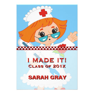 Medical Nursing School Graduation Customized Cards