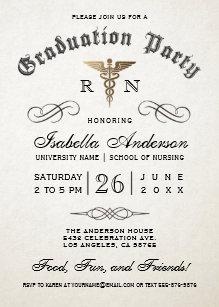Medical school graduation invitations zazzle medical nursing school graduation invitations filmwisefo