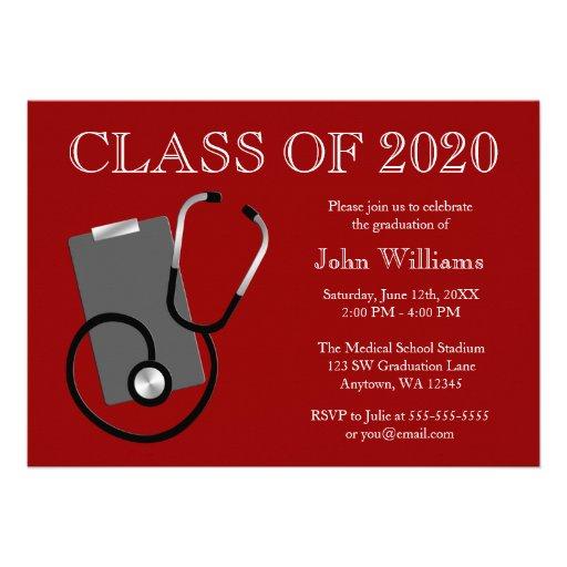 Medical School Graduation Invitations was very inspiring ideas you may choose for invitation ideas