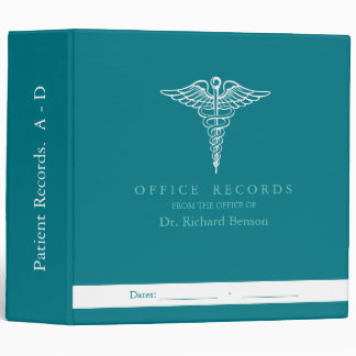 Medical Office Records Custom Binders