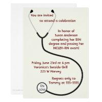 Nursing graduation invitations announcements zazzle medical or nursing degree graduation invitation filmwisefo Images