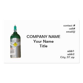 Medical oxygen cylinder business card