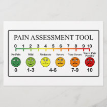 Medical Pain Assessment Tool Chart