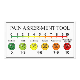 Medical Pain Assessment Tool Chart Canvas Print