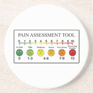 Medical Pain Assessment Tool Chart Coaster