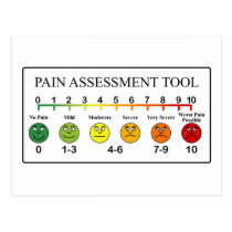 Medical Pain Assessment Tool Chart Postcard
