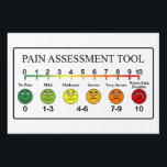 "Medical Pain Assessment Tool Chart Yard Sign<br><div class=""desc"">Medical Pain Assessment Tool Chart</div>"