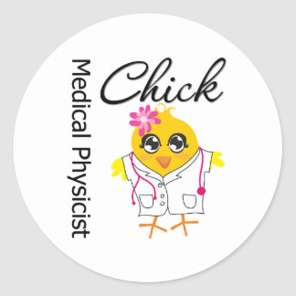 Medical Physicist Chick Classic Round Sticker