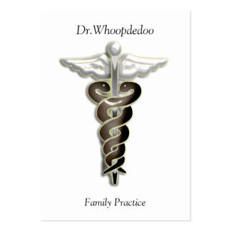 medical practice large business card