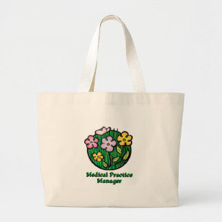 Medical Practice Manager Blooms Large Tote Bag
