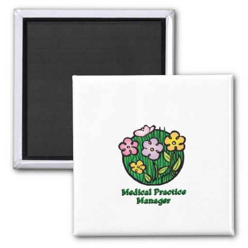 Medical Practice Manager Blooms Magnets