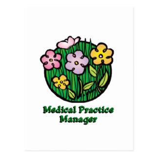 Medical Practice Manager Blooms Postcard