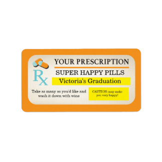 Medical prescription labels Nurse party favors