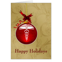 medical profession caduceus sign Christmas Cards