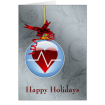 medical profession cardio holiday Cards