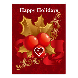 medical profession cardio Holiday Cards Postcard