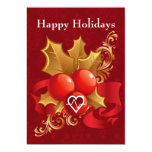 """medical profession cardiology Holiday Cards 5"""" X 7"""" Invitation Card"""