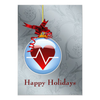 "medical profession cardiology Holiday Cards 5"" X 7"" Invitation Card"