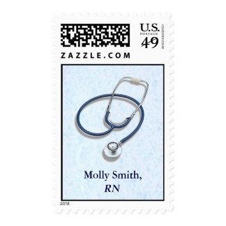Medical Profession Custom Name Postage Stamp