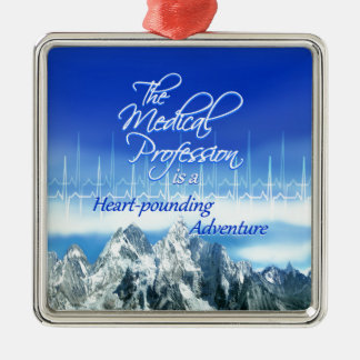 Medical Profession is an Adventure_Heartbeat & Mou Metal Ornament
