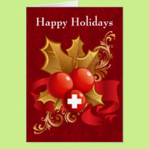 medical profession red cross sign Christmas Cards